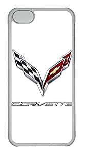 iPhone 5C Case, iPhone 5C Cases - Anti-Scratch Crystal Clear Back Bumper for iPhone 5C Chevrolet Corvette New Car Logo 3 Shock-Absorption Hard Case for iPhone 5C