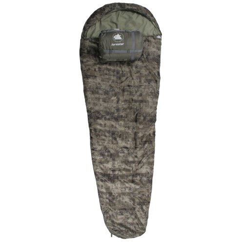 10T Forester - Single mummy sleeping bag, 230x85 cm, polycotton camouflage design, up to -23°C