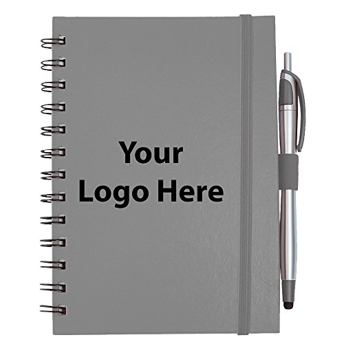 Inspiration Spiral with Pen Stylus - 100 Quantity - $3.45 Each - PROMOTIONAL PRODUCT / BULK / BRANDED with YOUR LOGO / CUSTOMIZED by Sunrise Identity