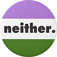 Genderqueer Non-Binary Gender Queer Expansive Flag NEITHER Pinback Button Pin
