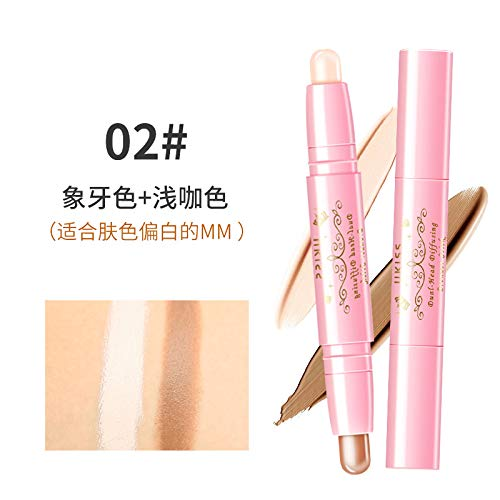 Double-Head Highlighter Pen Bronzer Stick Light Shading Concealer Brighten Skin Colour Face 3D Contour Nose Shadow Powder