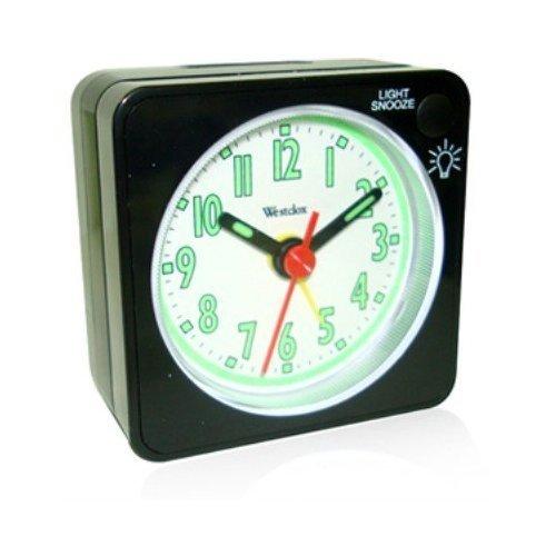 47370 Quartz Analog Alarm Clock Black
