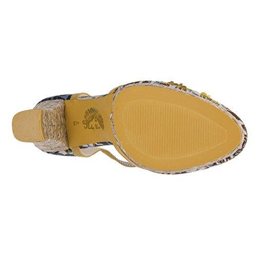 Ruby Shoo Flo Damen Schuhe Gelb