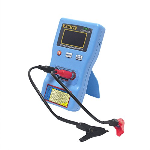 Signstek 2 in 1 Digital Auto-ranging ESR + Capacitance Meter 0-470Ω ERS 0μF-470mF Rechargeable Capacitance Tester and Internal Resistance Tester with SMD Test Clips and USB Cable by Signstek