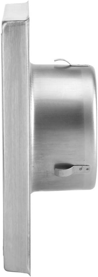 Eastbuy Cubierta de ventilaci/ón del secador Ventilador de Pared de Acero Inoxidable 100 mm Escape Cuadrado Secadora Extractor Salida de Ventilador