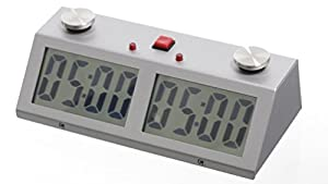Professional Tournament Chess Game Clock Silver by ZmartFun