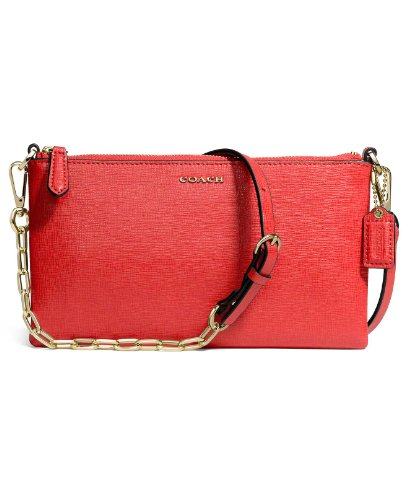 Size Leather One Kylie Light Red Crossbody COACH Love Cross Body Gold Saffiano Sx4qx1w7