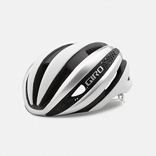 Giro Synthe Matte White Silver Aero Road Bike Helmet Large