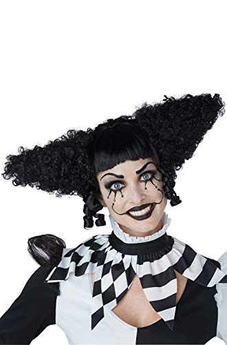 California Costumes Womens Creepy Clown Gothic Black (Creepy Female Clown Costumes)