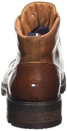 Tommy Hilfiger Curtis 5A - Botas de cuero hombre marrón - Brown (906 Winter Cognac)