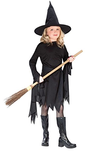 Fun World Little Girl's Lg Child Witchy Witch Cstm Childrens Costume, Multi, Large -