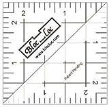 "Bloc Loc~2.5"" Half Square Triangle Ruler, Acrylic"