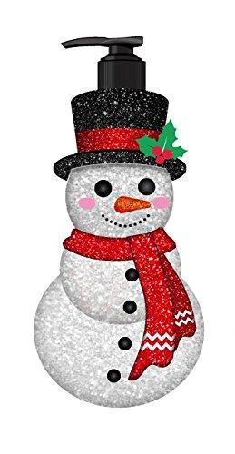 Holiday 3D Sculpted Hand Wash Bottle - Glitter Snowman Shaped (Snowman Bottle)