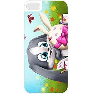 Diy Yourself Apple iPhone 5C case covers Customized Gifts For Holidays Easter x5JqNY7E5Sw Bunny Celebrations Holiday White