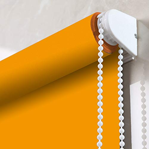Filtering Light Orange Blinds (PASSENGER PIGEON Adhesive Window Shades, Premium Light Filtering UV Protection Custom Roller Blinds, 29