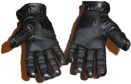Protection Police Defend ESG Enforcer Robust Quality Leather with Lead Shots Kevlar Gloves