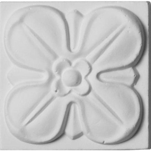 Ekena Millwork ROS02X02FW 2-Inch W X 2-Inch H X 3/4-Inch P Flower Rosette (Rosette Furniture)