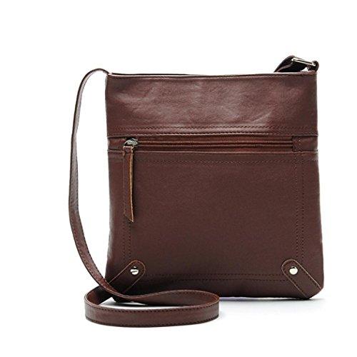 Handbag Coffee AgrinTol Bag Leather Clearance Shoulder Messenger Leather Satchel Crossbody Womens Fashion Pq7wg6vnxU