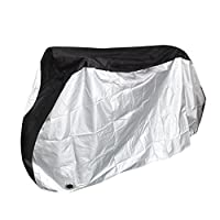 Puroma Bike Cover Outdoor Waterproof Bicycle Covers Rain Sun UV Dust Wind Proof with Lock Hole for Mountain Road Electric Bike, XL