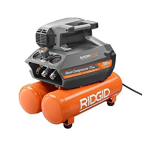 [해외]RIDGID 200 psi 4.5 Gal. 검정 Electric Quiet Compressor 압축 먼지 제거기 / RIDGID 200 psi 4.5 Gal. Electric Quiet Compressor (Orange)