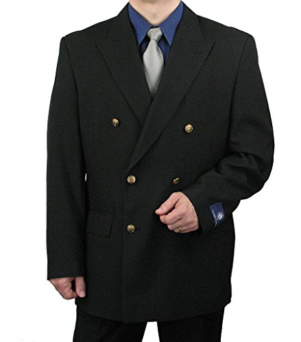 Attractive Men's Double Breasted Blazer w/matching Brass Buttons