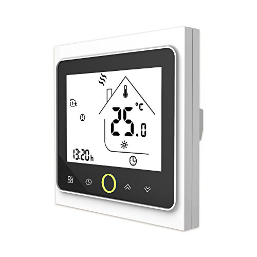Onepeak Programmable Thermostat Boiler Heating LCD Display Touch Screen NTC Sensor Room Temperature Controller 3A