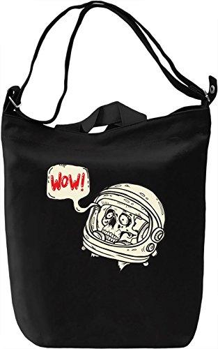 Space skull Borsa Giornaliera Canvas Canvas Day Bag  100% Premium Cotton Canvas  DTG Printing 