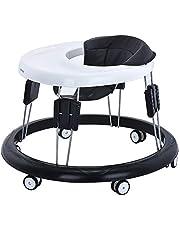 Andador Bebe, Silla de Bebe Plegable y Ajustable para bebés de 6 a 18 meses (Negro)