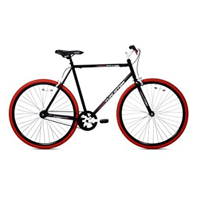 Kent Thruster 700C Men's Fixie Bike, Black/Red