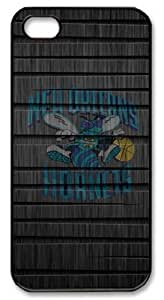 LZHCASE Personalized Protective Case for iphone 5 - NBA Sports New Orleans Pelicans Logo Wood Look