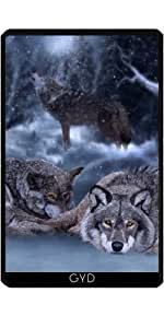 Funda para Kindle Fire 7 pouces (2012 Version) - Noche Invernal by Illu-Pic.-A.T.Art