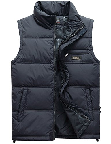 Classic Down Vest (Gihuo Men's Classic Quilted Padded Puffer Vest Outdoor Down Gilet (XX-Large, Navy))