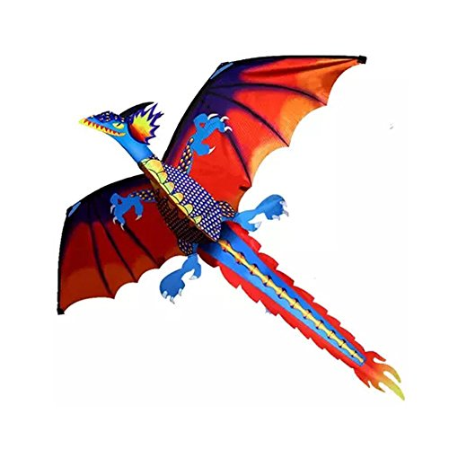Orcbee  _3D Dragon Kite Kids Toy Fun Outdoor Flying Activity Game Children with Tail