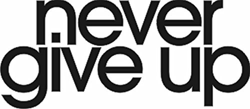 """QuoteTheWalls - Vinyl Wall Decal - """"Never Give Up Vinyl Decal"""" Design"""