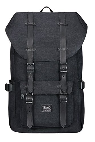 Laptop Outdoor Backpack, Travel Hiking& Camping Rucksack Pack, Casual Large College School Daypack, Shoulder Book Bags Back Fits 15″ Laptop & Tablets by Kaukko