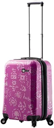 Purple Mia Toro Love This Life-Medallions Hardside 20 Inch Spinner Luggage