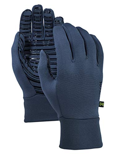 Womens Glove Snowboard Burton (Burton Men's Powerstretch Glove Liner, Mood Indigo, Small/Medium)