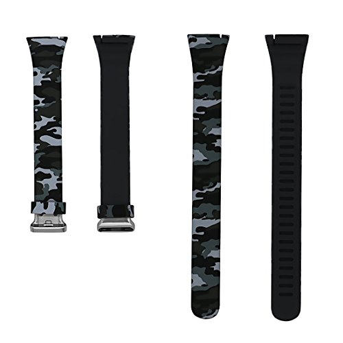 Pard H3 / H5 Sports Fitness Tracker Replacement Watch Bands, Blue Black