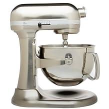 Kitchenaid Professional 600 Stand Mixer 6 Quart, Nickle Pearl Polished Metal (Renewed)