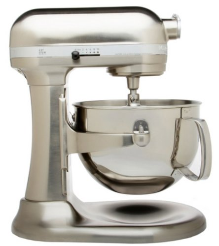 KitchenAid (認定Refurbished ) rkp26 m1 X CA Professional 600スタンドミキサー6クォート10-spd Candy Apple Red R-KP26M1XNK B00JXX9H22 Nickle Pearl Polished Metal Nickle Pearl Polished Metal