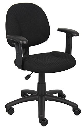 Boss Office Products B316-BK Perfect Posture Delux Fabric Ta