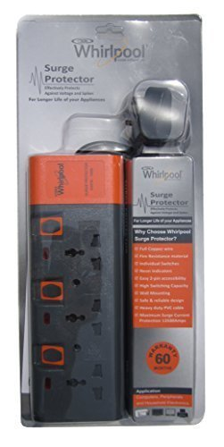 whirlpool surge protector 3 sockets 6 amp amazon in garden outdoors rh amazon in