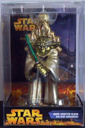 Star Wars ~ YODA - Glass Ornament