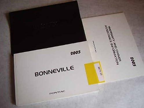 2005 pontiac bonneville owners manual pontiac amazon com books rh amazon com 2007 Pontiac Bonneville 2005 pontiac bonneville service manual