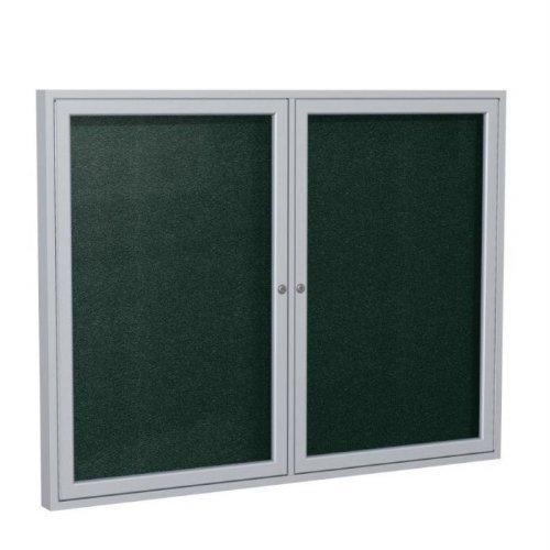 Ghent 36 x 60 Inches Outdoor Satin Frame Enclosed Vinyl Bulletin Board, Ebony , Made in the USA by Ghent by Ghent