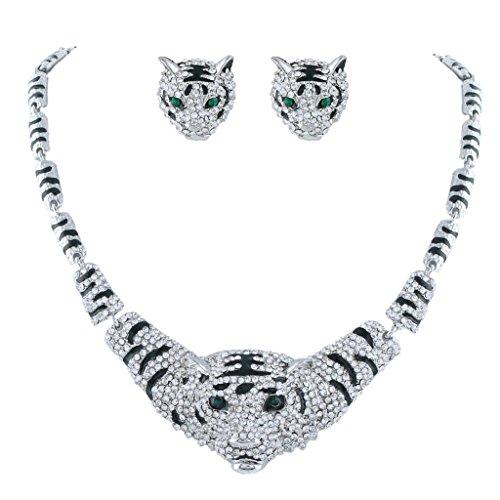 tiger head earrings - 6