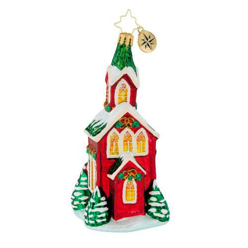 Christopher Radko 2018 Christmas Cathedral' Glass Church ()