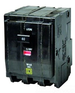 Square D Circuit Breaker, 70 Amp, 3-Pole, QO370