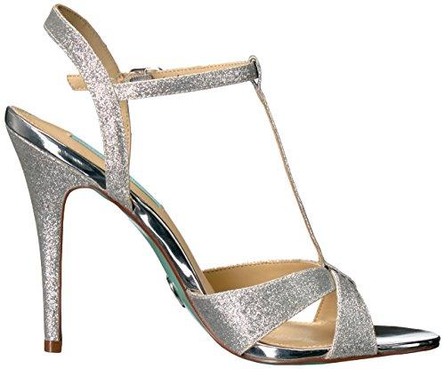 Blue by Betsey Johnson Womens SB-Teena Dress Sandal Silver Glitter Jf1UkyfpW