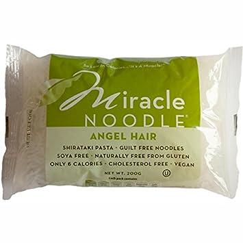 Amazon Com Miracle Noodle Shirataki Angel Hair Noodles 10 Pack